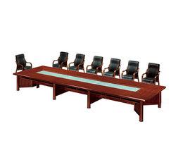 實木會議桌-15